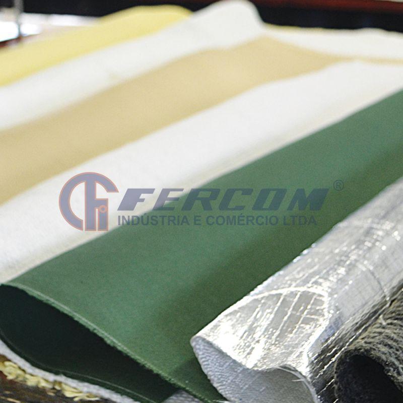 Tecido de fibra de vidro aluminizado
